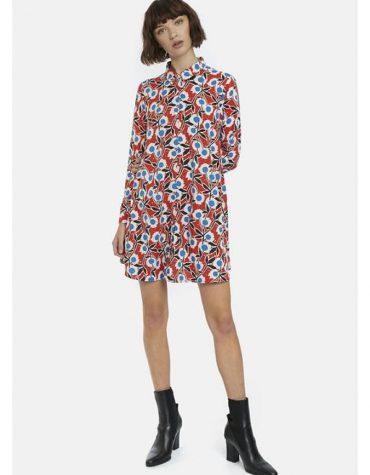 Floral Print Shirt Dress-4