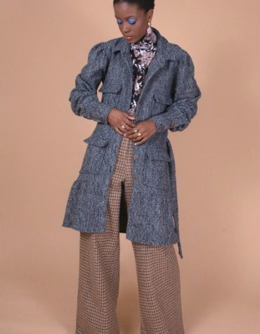 Nidodileda Sisely Tweed Coat Dress-5