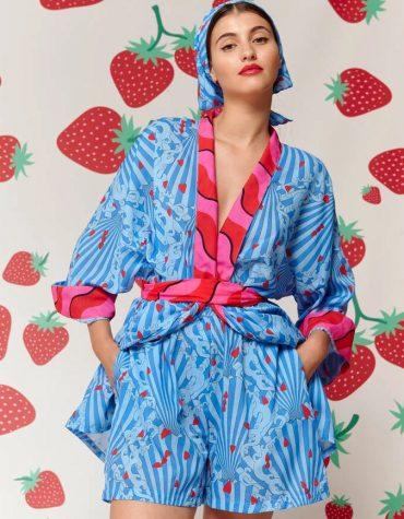 Karavan Fujita Kimono Blue 1