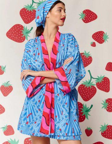 Karavan Fujita Kimono Blue