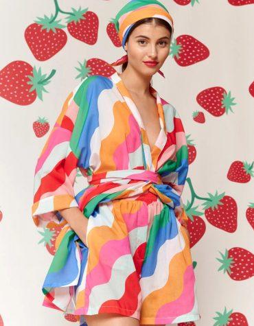 Karavan Fujita Kimono Multicolor