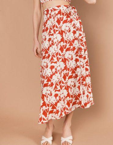 Maddalena Terracotta Skirt2