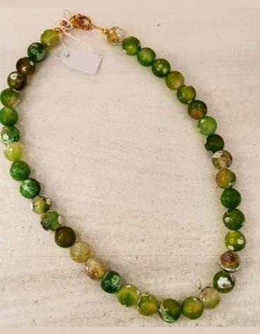 Kaleido Green Dots Necklace 1 1