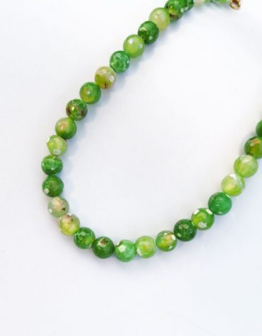 Kaleido Green Dots Necklace