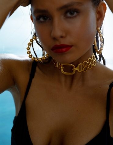 Kaleido Michelle Necklace 24k gold