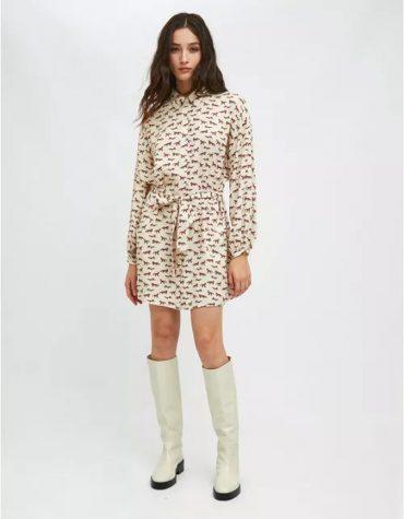 Compania Fantastica Fox Print Mini Shirt Dress With Belt 2