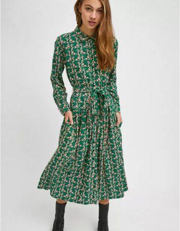 Compania Fantastica Giraffe Print Midi Shirt Dress 4