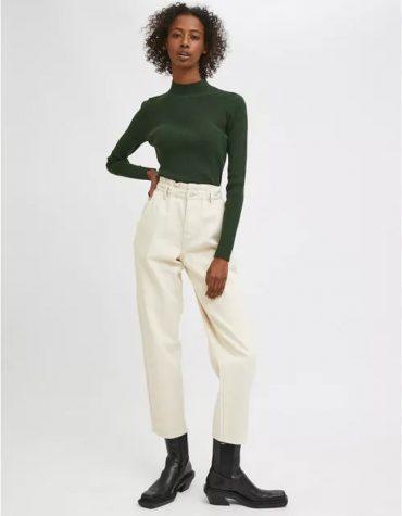 Compania Fantastica White High Waisted Jeans With Elasticated Waist 6