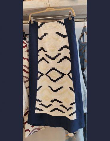 GREEK ARCHAIC KORI S21k 220051 Embroidered Blue Skirt