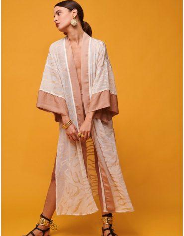 Nema Kimono White and Gold 1