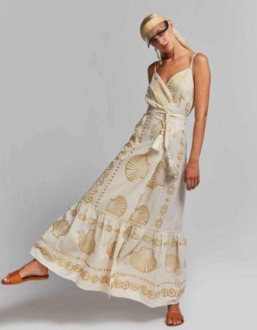 Nema Maxi All Day Φόρεμα Ecru