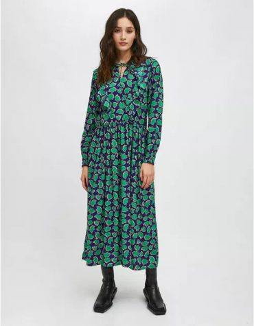 Compania Fantastica Floral Tulip Print Midi Dress With Ruffle Detail 4