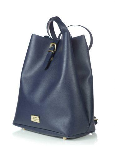 ELENA ATHANASIOU Backpack Recycled Blue Black 1