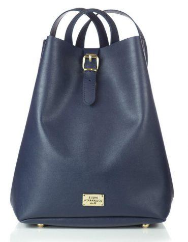 ELENA ATHANASIOU Backpack Recycled Blue Black 3