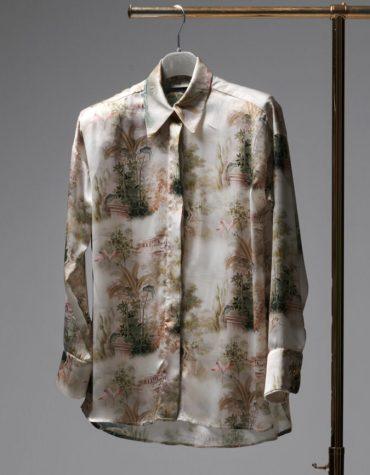 MILKWHITE Printed Glossy Shirt