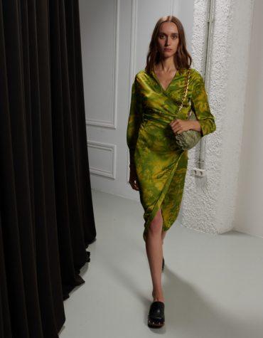 MILKWHITE Printed Wrap Dress 2