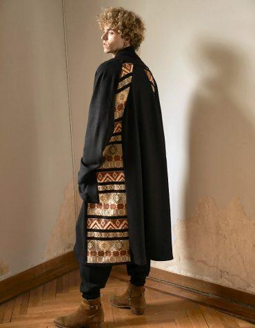 Nidodileda Cover Coat Embellised Maxi