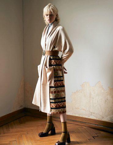 Nidodileda Spread Coat Embellised Maxi