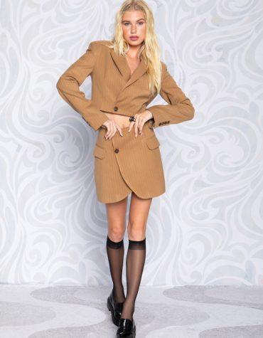 Peace and Chaos Cut Blazer Skirt