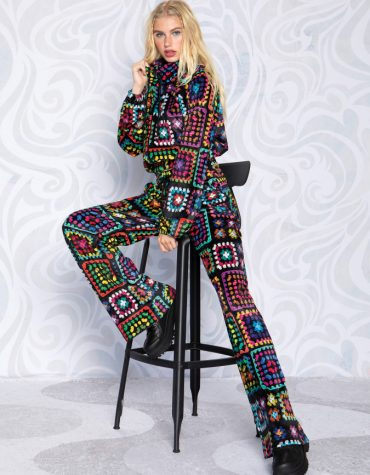 Peace and Chaos Grannys Blanket Pants