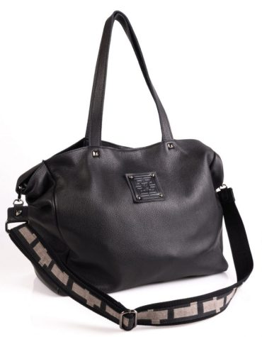 Ames Bags Asti large leather pouro black 2