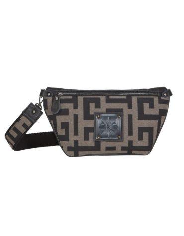 Ames Bags Votsalo leather pouro black 1