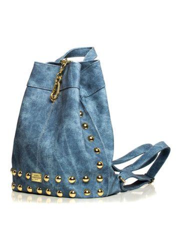 Backpack Jean Pattern Blue 1