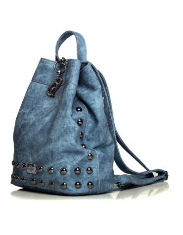 Backpack Jean Pattern Blue 2