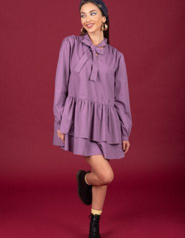 CHATON Francesca dress Dusty Violet 1