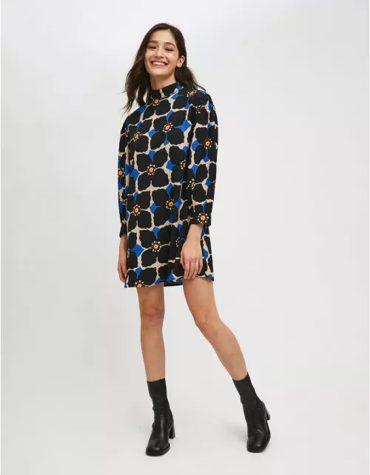 Compania Fantastica Loose Fit Midi Dress In Jasmine Flower Print 3