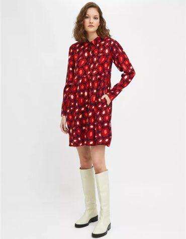 Compania Fantastica Midi Dress With Ruffles And Large Flower Print 3