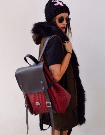 ELENA ATHANASIOU Backpack Burgundy Cap