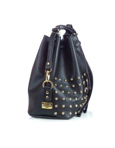 ELENA ATHANASIOU Pouch Bag Black Golden Troucs 1