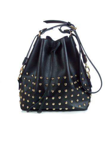 ELENA ATHANASIOU Pouch Bag Black Golden Troucs