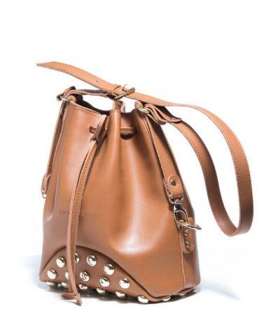 ELENA ATHANASIOU Pouch Bag Fresh Cognac Silver Troucs 1