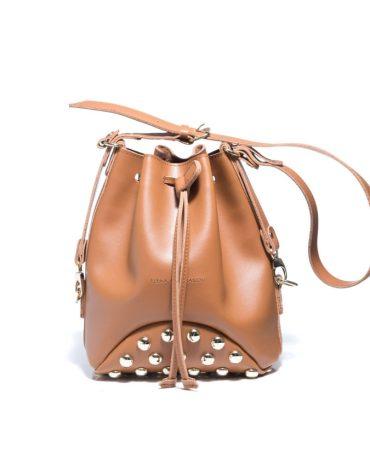 ELENA ATHANASIOU Pouch Bag Fresh Cognac Silver Troucs 2