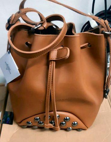 ELENA ATHANASIOU Pouch Bag Fresh Cognac Silver Troucs 3