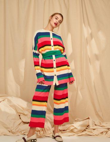 Karavan Elodie Striped Knittted Shirt Multicolor 7