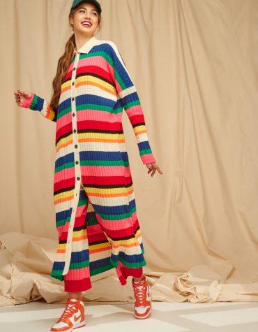 Karavan Florian Striped Knittted Shirtdress Multicolor 3