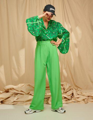 Karavan Simon Suit Trousers Fluo Green 1
