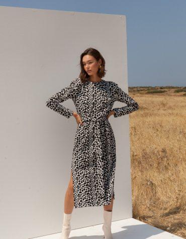 Mallory Novena Black White Dress 5