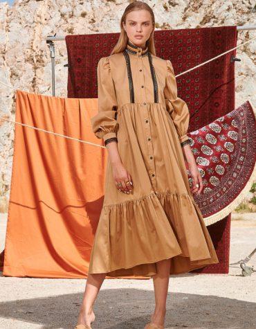Nema Marcella Midi Dress Camel