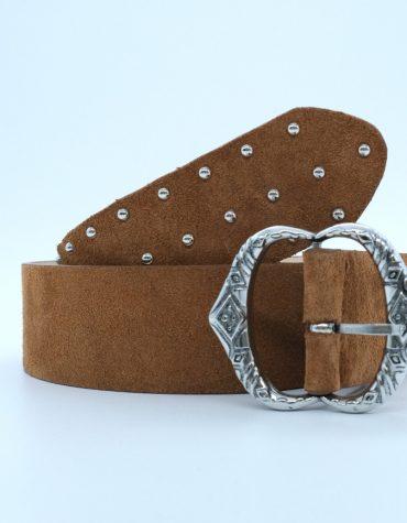 SALT PEPPER Aurora Brown Leather Belt